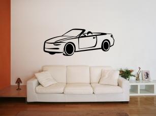 Auto samolepka na zeď