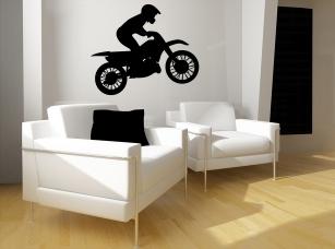 Crosová motorka samolepka na zeď