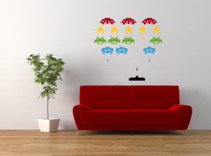 Space Invaders samolepka na zeď