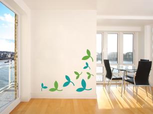 Barevné listí samolepka na zeď
