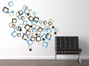 Rozházené kostky samolepka na zeď
