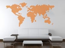 Mapa světa z křížků
